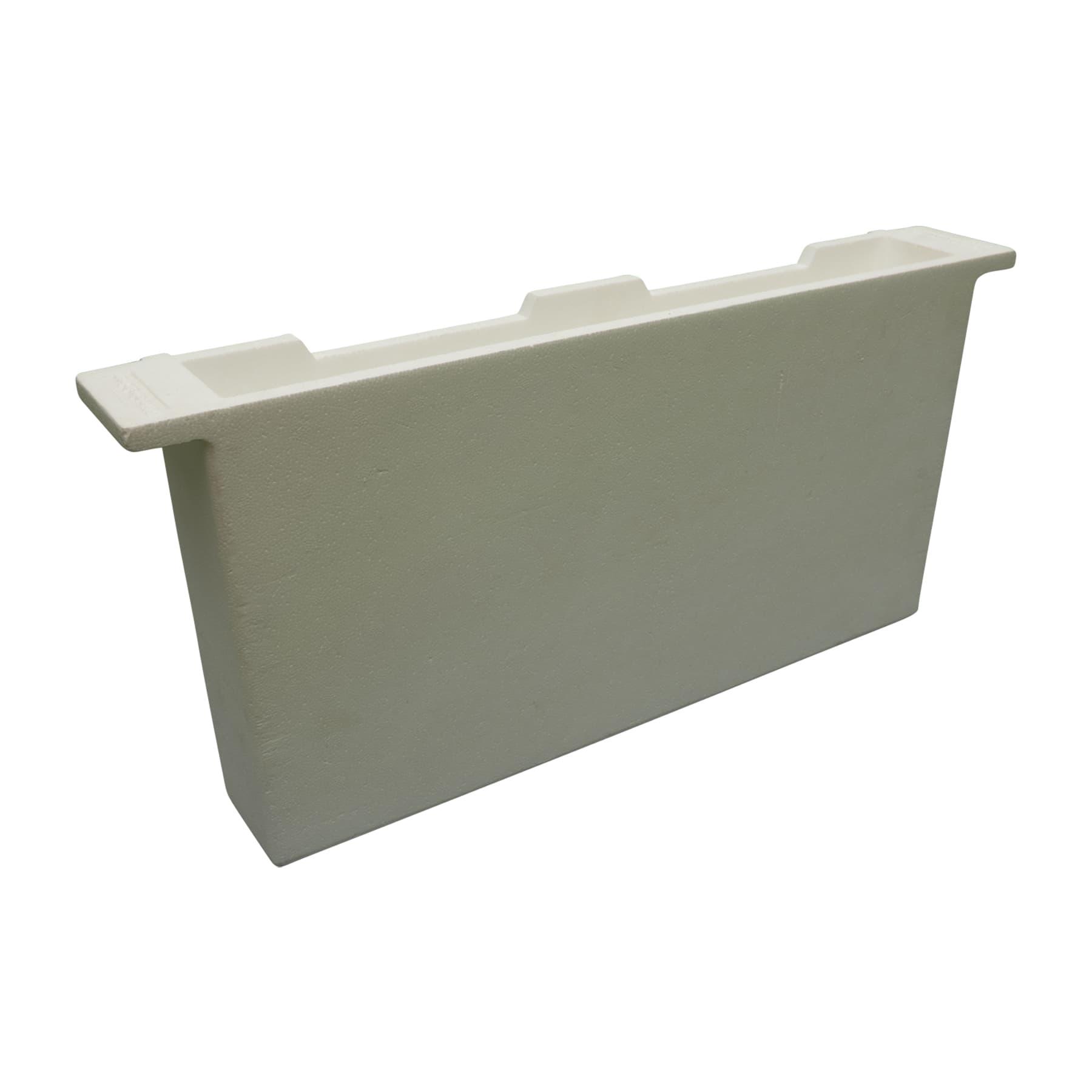 Futtertasche aus Styropor Langstroth70 mm breit (entspricht 2 Rähmchen)