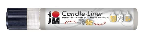 Candle - Liner, 25 ml von Marabu 782 metallic-silber