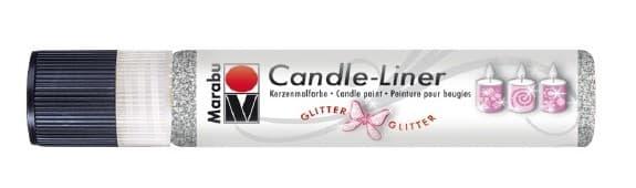 Candle - Liner, 25 ml von Marabu 582 glitter-silber