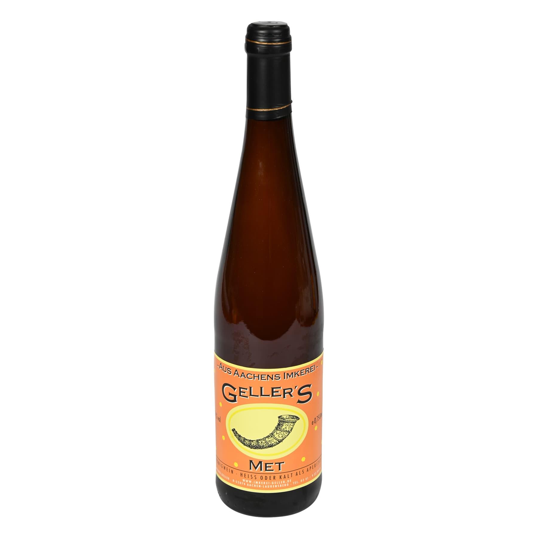 Honigwein - Met, lieblich, 0,75 l Flasche (schwarze Kapsel)