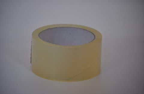 Packband auf Rolle transparent 50 mm breit 66 m Länge 46 my