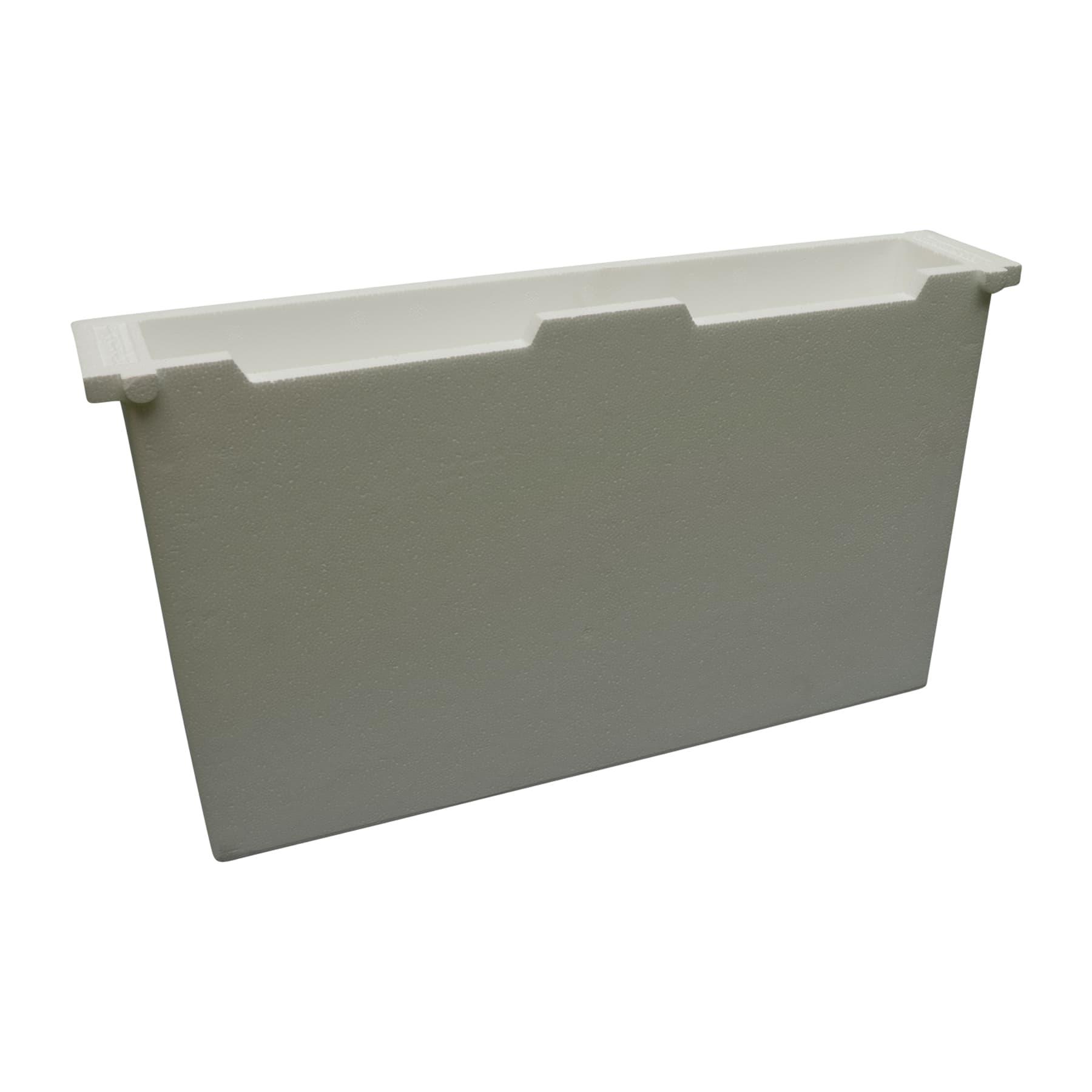 Futtertasche aus Styropor DN 70 mm breit (entspricht 2 Rähmchen)