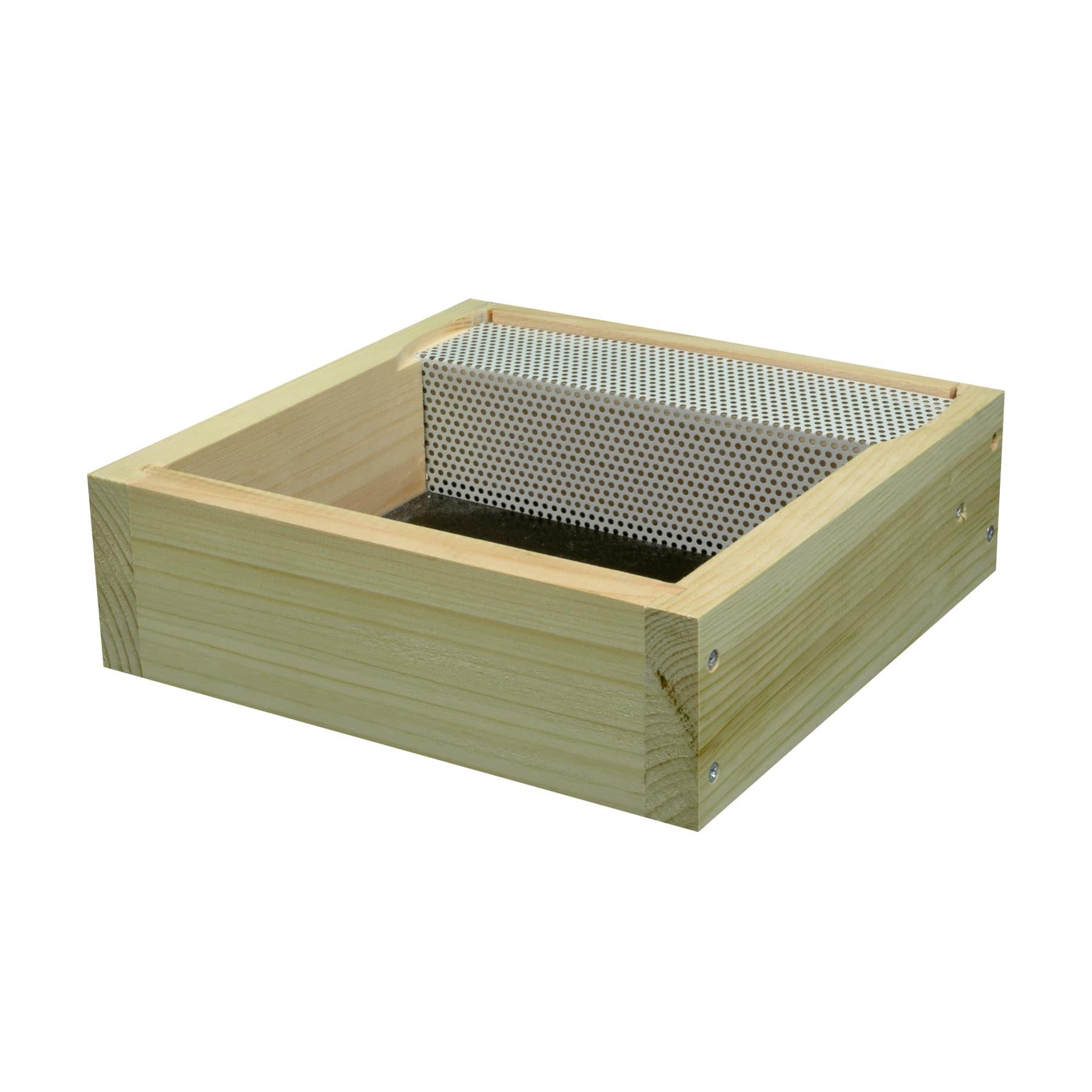 Miniplus Futterzarge aus Holz mit seitlichem Aufstieg