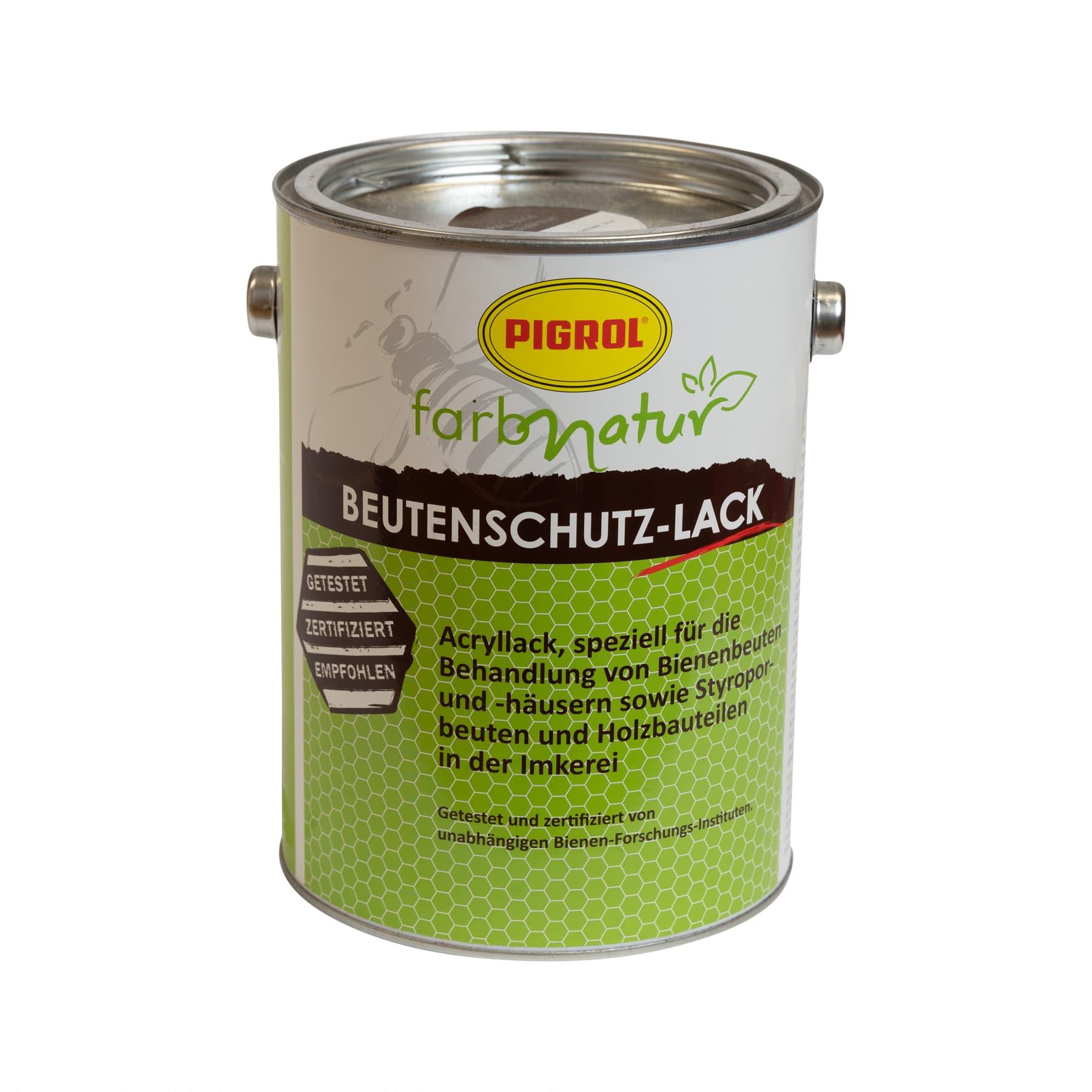 Sonderaktion: Pigrol Beutenschutzlack braun (Farbton ral 8014)  2,5 l für Holz und Styropor