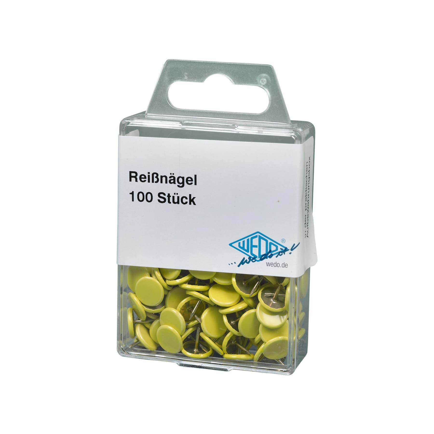 Reißnägel (Heftzwecke) 100 St. Farbe gelb