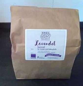 Lavendel Rauchstoff für Smoker und Imkerpfeife 300 g Biolandprodukt aus Deutschland