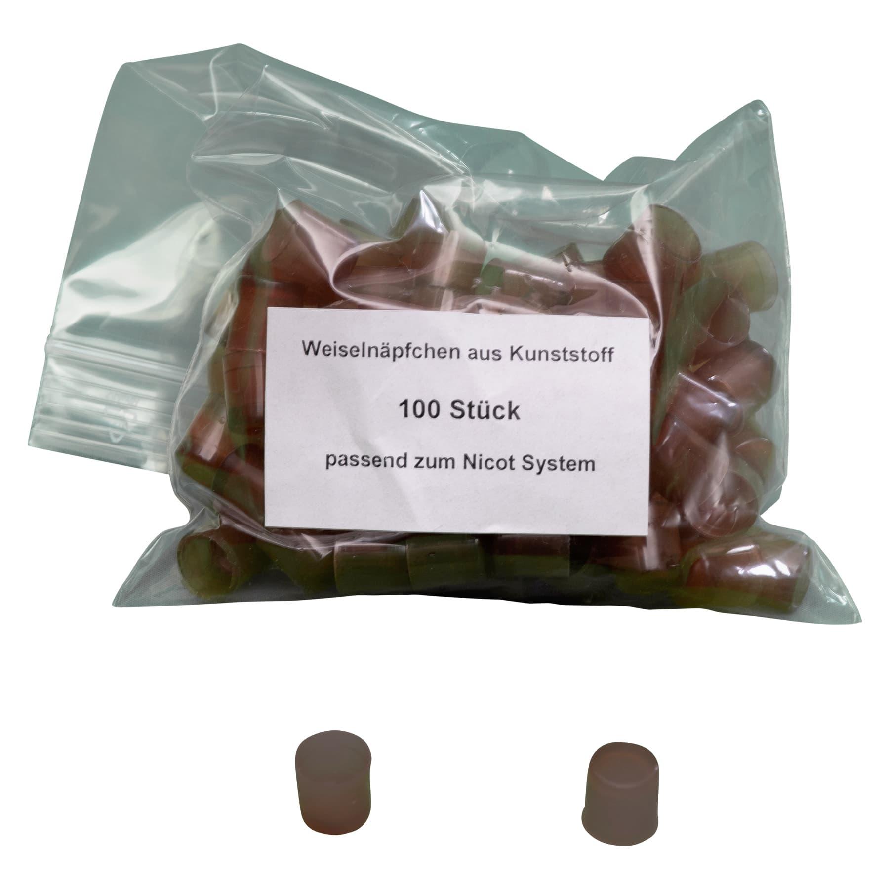 Weiselnäpfchen aus Kunststoff 100 Stück, passend zum Nicot System