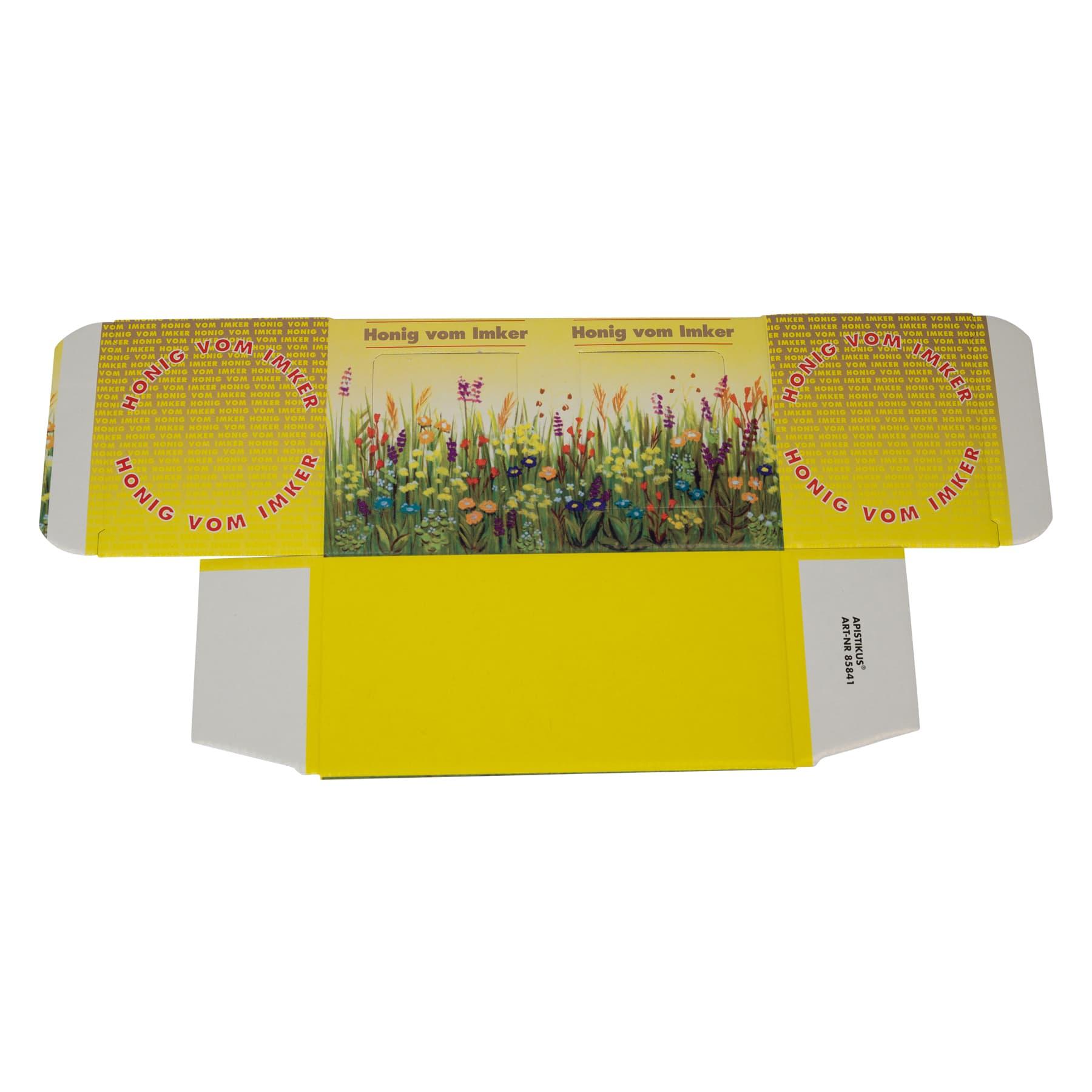 Kartonverpackung Blumenwiese für 2 Gläser Honig 500 g