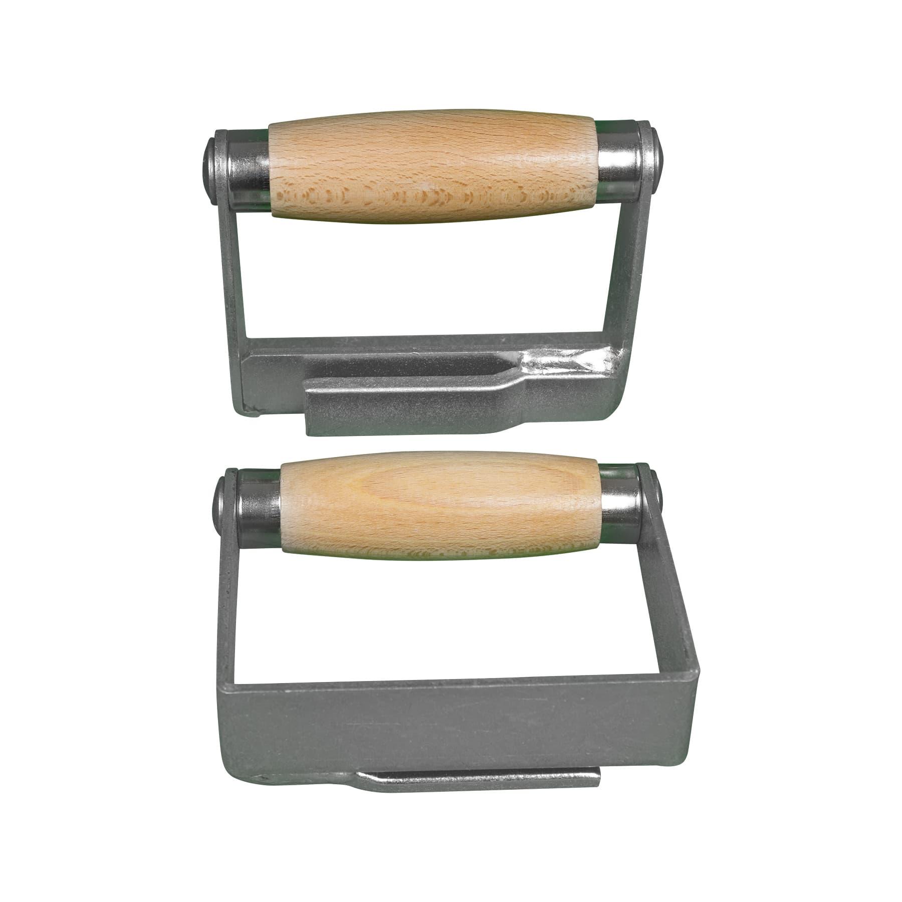 Komfort- Gurt Knebelgriffe (Paar) mit angenehmem Holz-Tragegriff zum Wandern