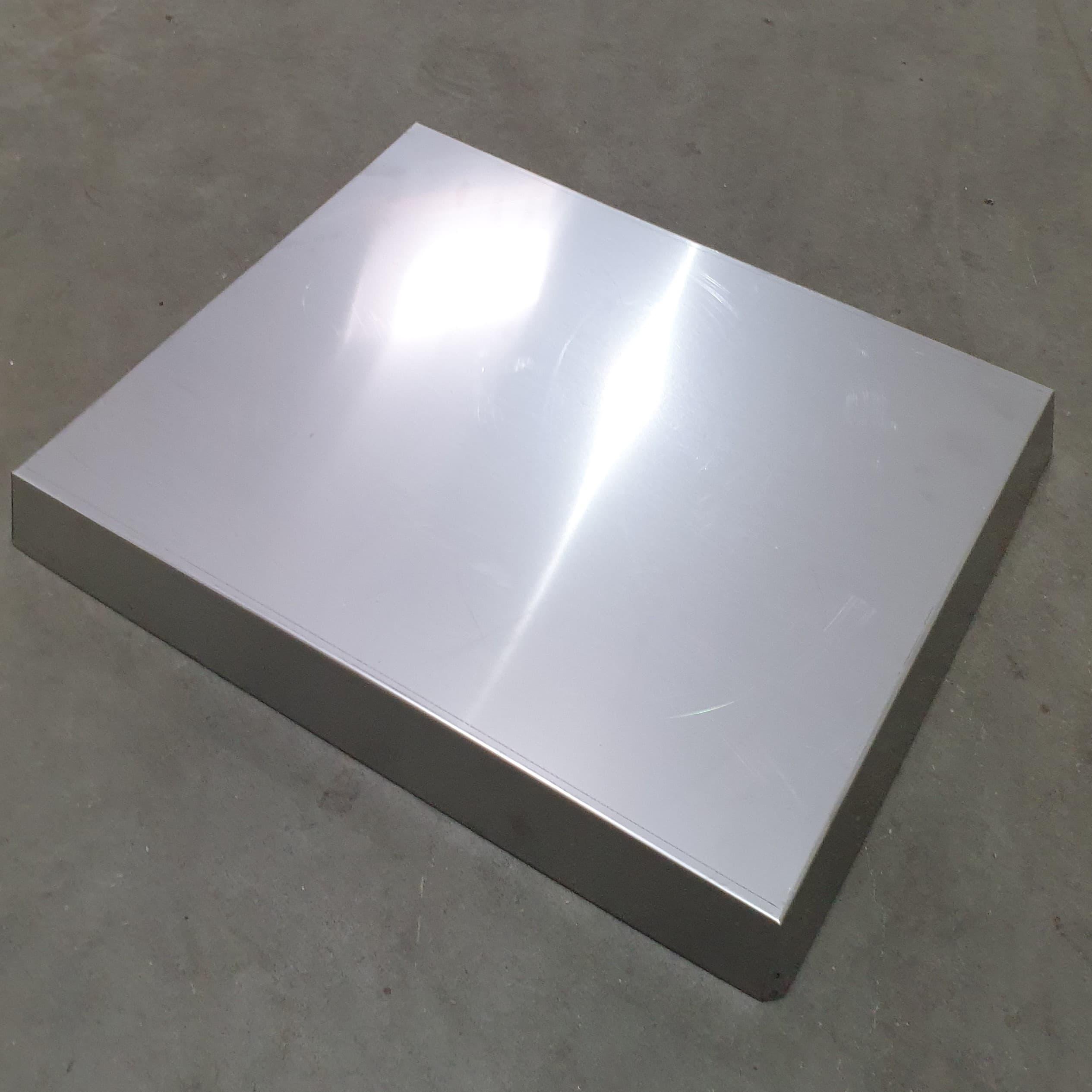 Blechdeckel Edelstahl konisch Innenmaß 425 x 525 x 65 mm für Liebigbeute Zander, Beste Qualität 0,6 mm dick, Made in Germany!