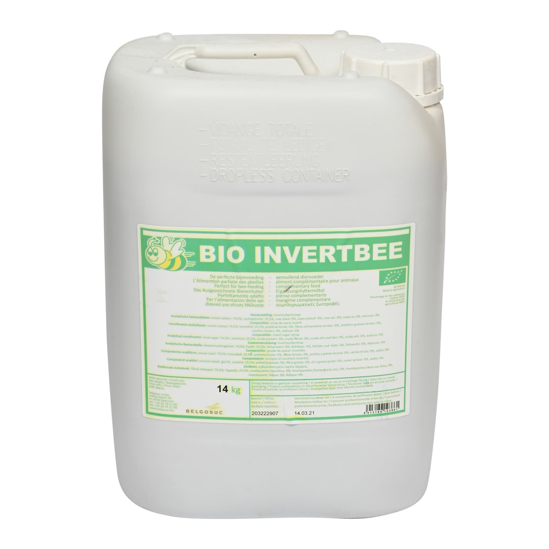 Bio Invertbee14 Kg Kanister unsere Öko Kontrollnr.DE-ÖKO-034