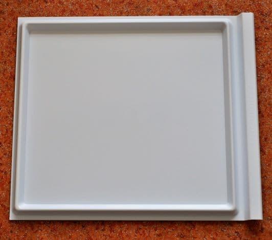 Varroauntersuchungswanne Kunststoff weiß, als Schieblade für 10 Waben DN Liebig Beute 353 x 408 mm x 15 mm,  DN 11 Waben Liebigboden/ 10 W-Simplex