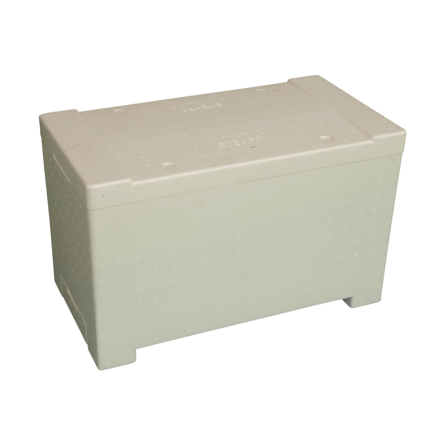 Stehr Ablegerkasten Dadant-modifiziert ohne Rechen (Dadant Standard) f. 6 Waben(482 x 285) aus Styropor, einschiebbares Flugbrett, ohne Abstandhalter