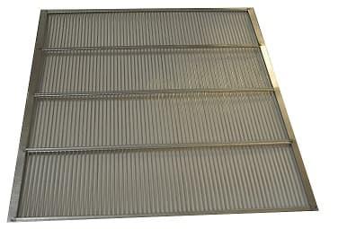 Absperrgitter Metall verzinkt 280 x 280 mm Miniplus rundum eingefaßt (für Holzbeute)