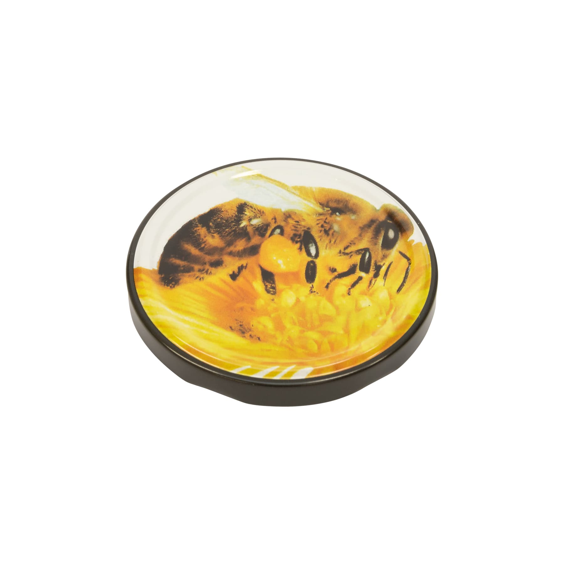Twist Off Deckel Metall 82 mm mit großer Biene auf Blüte