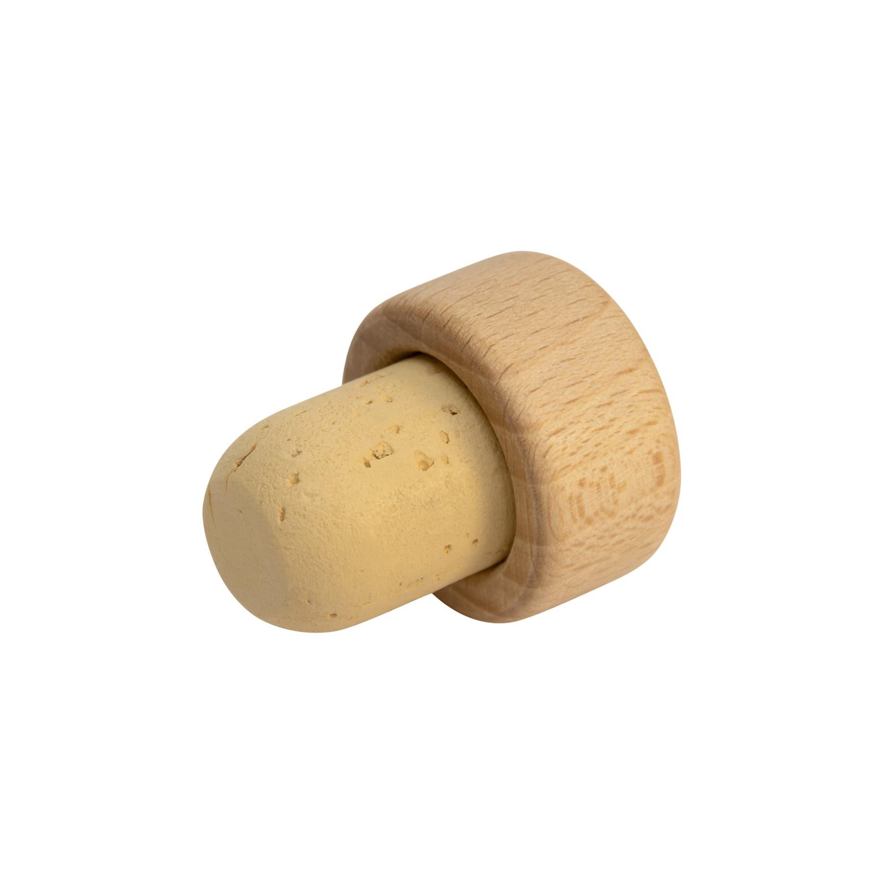 Holzgriffkorken glatt  28,5 x 15 mm, Kork 24,5 x 18,1 mm (z.B. f. Dreiecksfl.)