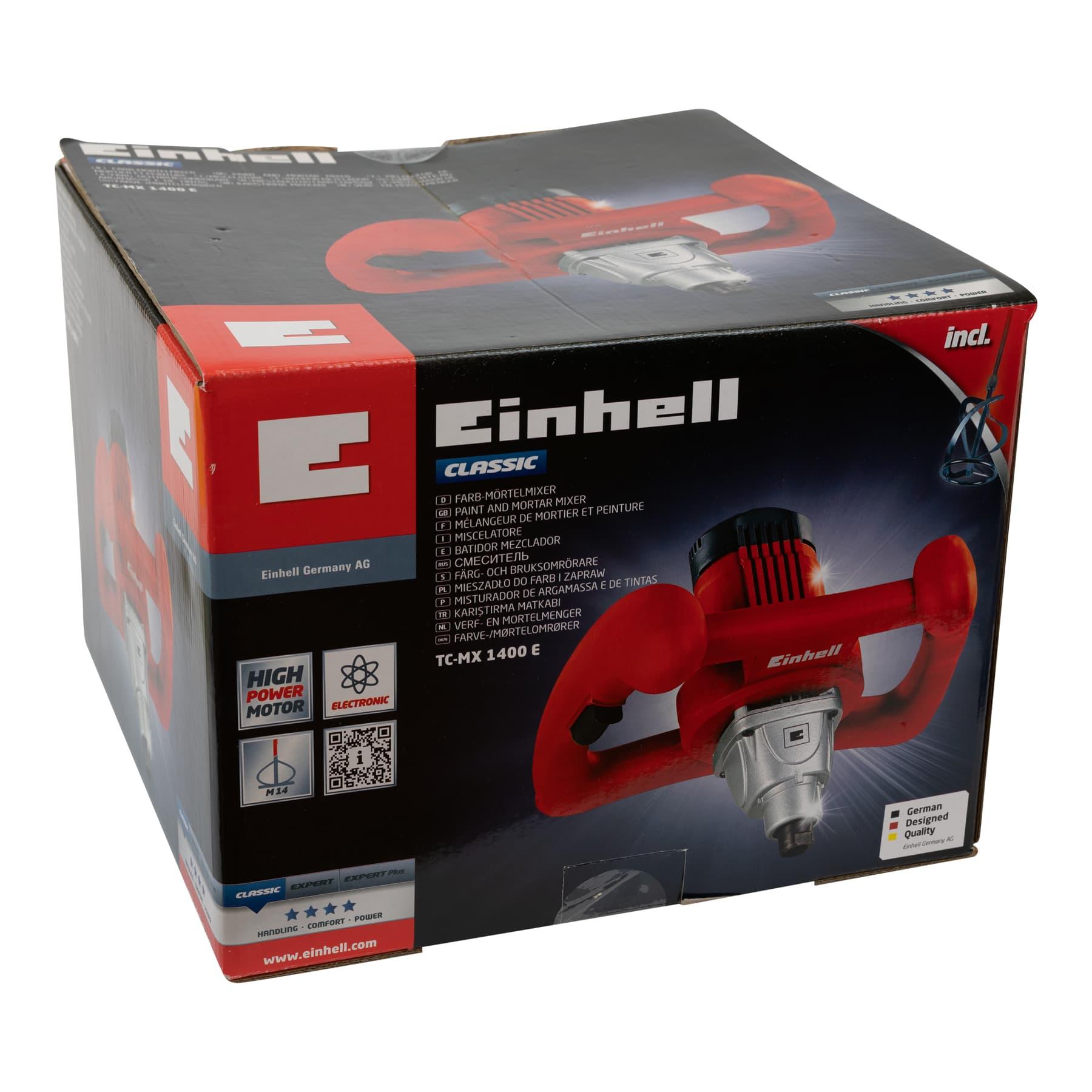 Zweihand Kraftmischer rot, besonders leistungsfähig 1600 Watt mit Untersetzung, nur geeignet für Rührer mit M14 Gewinde!