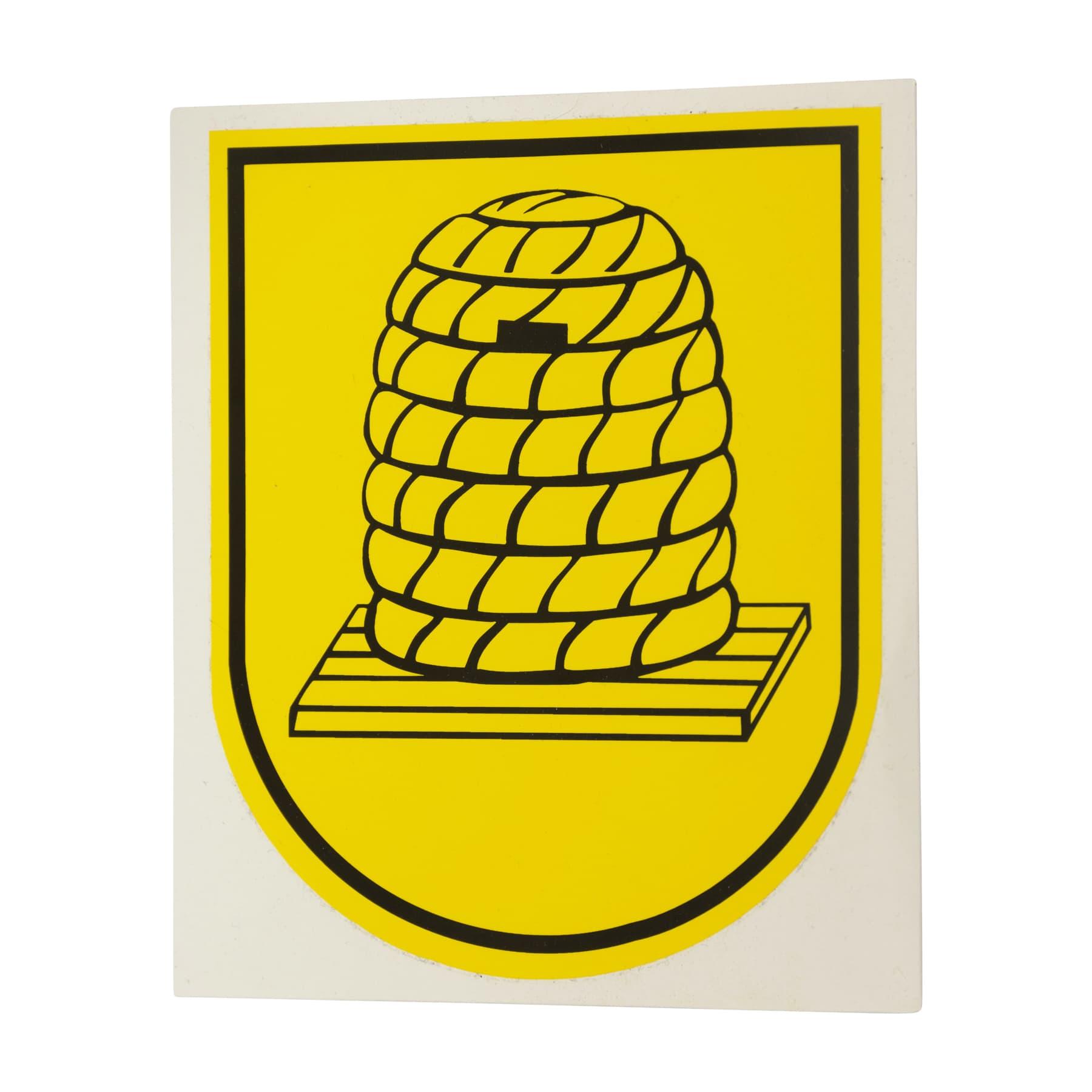 Aufkleber Bienenkorb-Wappen
