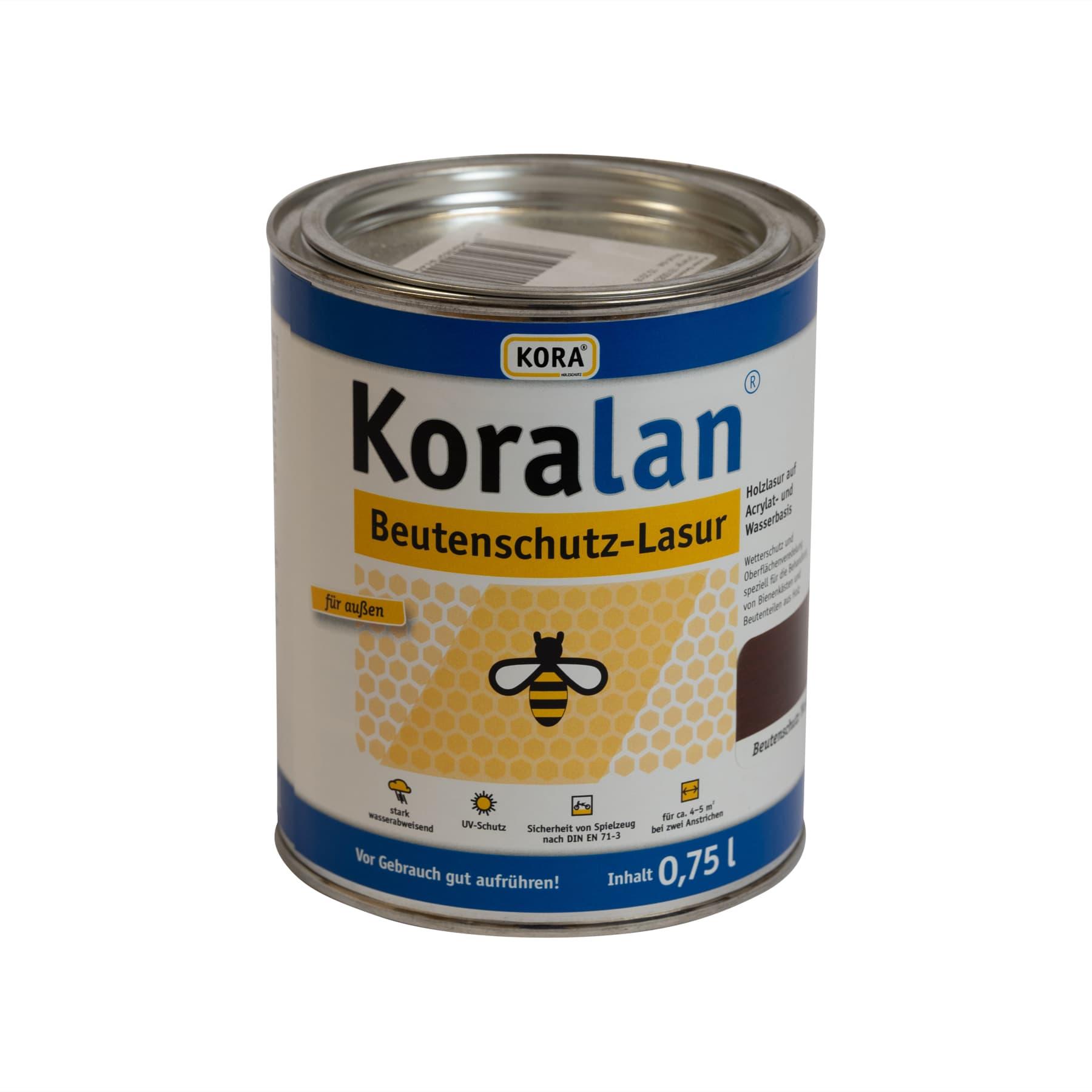 Koralan Beutenschutzlasur Nussbaum 750 ml
