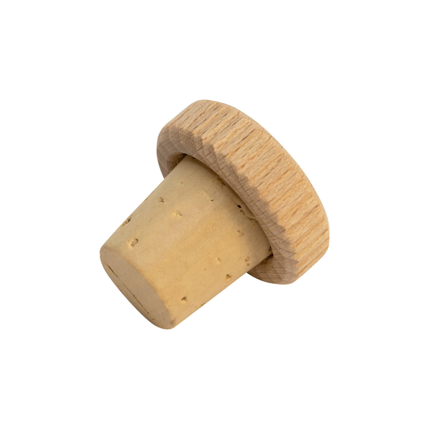 Holz-Griffkork   32 x 10 mm, Kork 24 x 21/17mm z. B. für Steingutflasche,