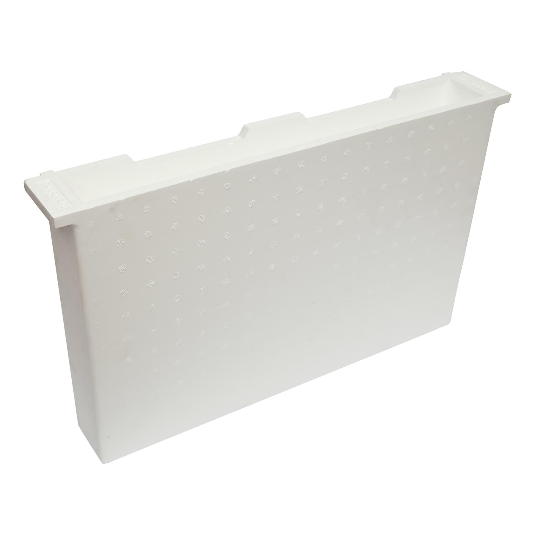 Futtertasche aus Styropor Dadant modifiziert (US) 70 mm breit (entspricht 2 Rähmchen)