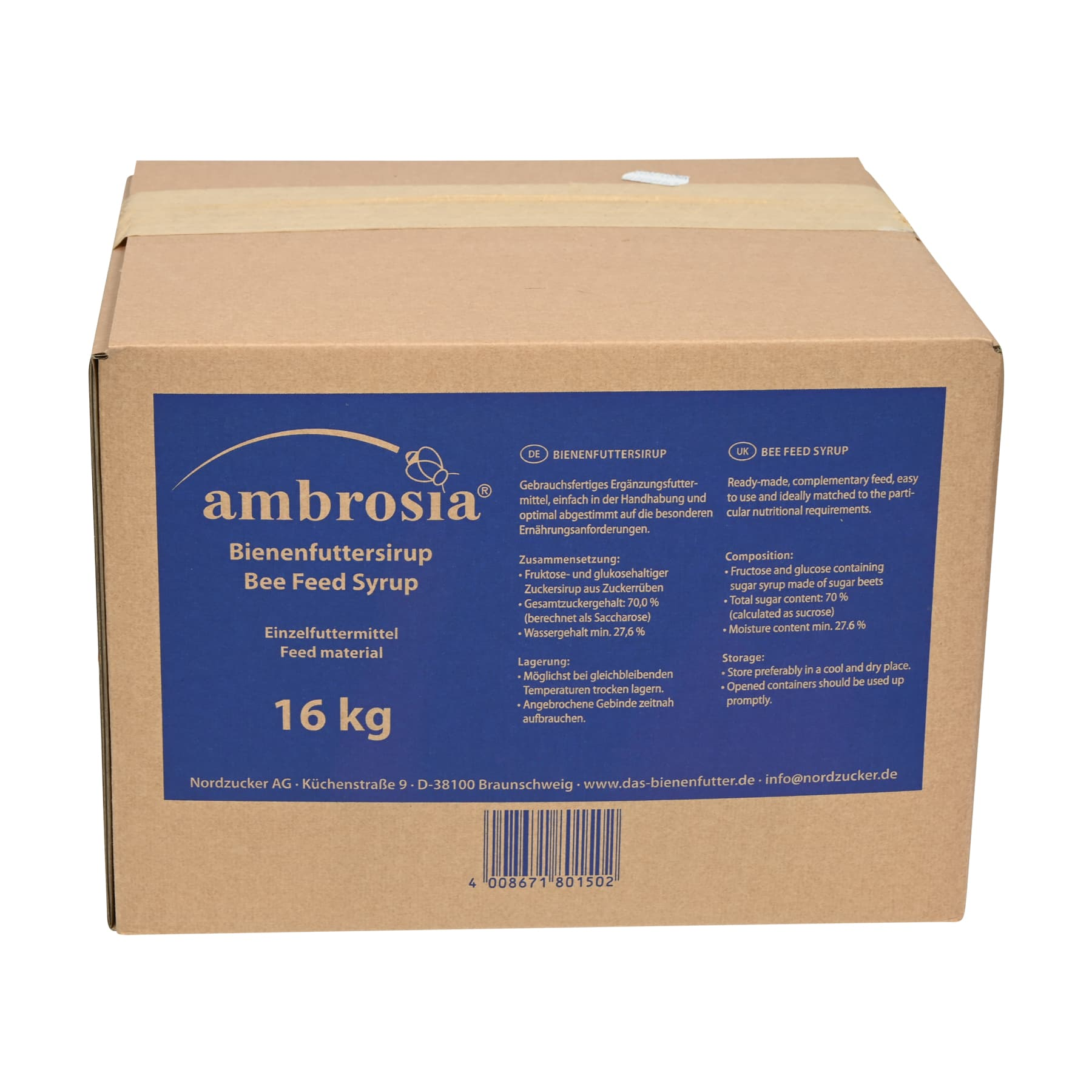 Ambrosia Sirup 16 kg Nachfüllpackung