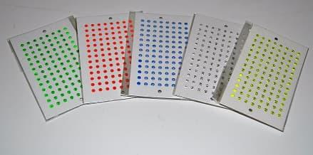 Zeichenplättchen leuchtend, 1 Karte mit Nummern, weiß, made in Germany