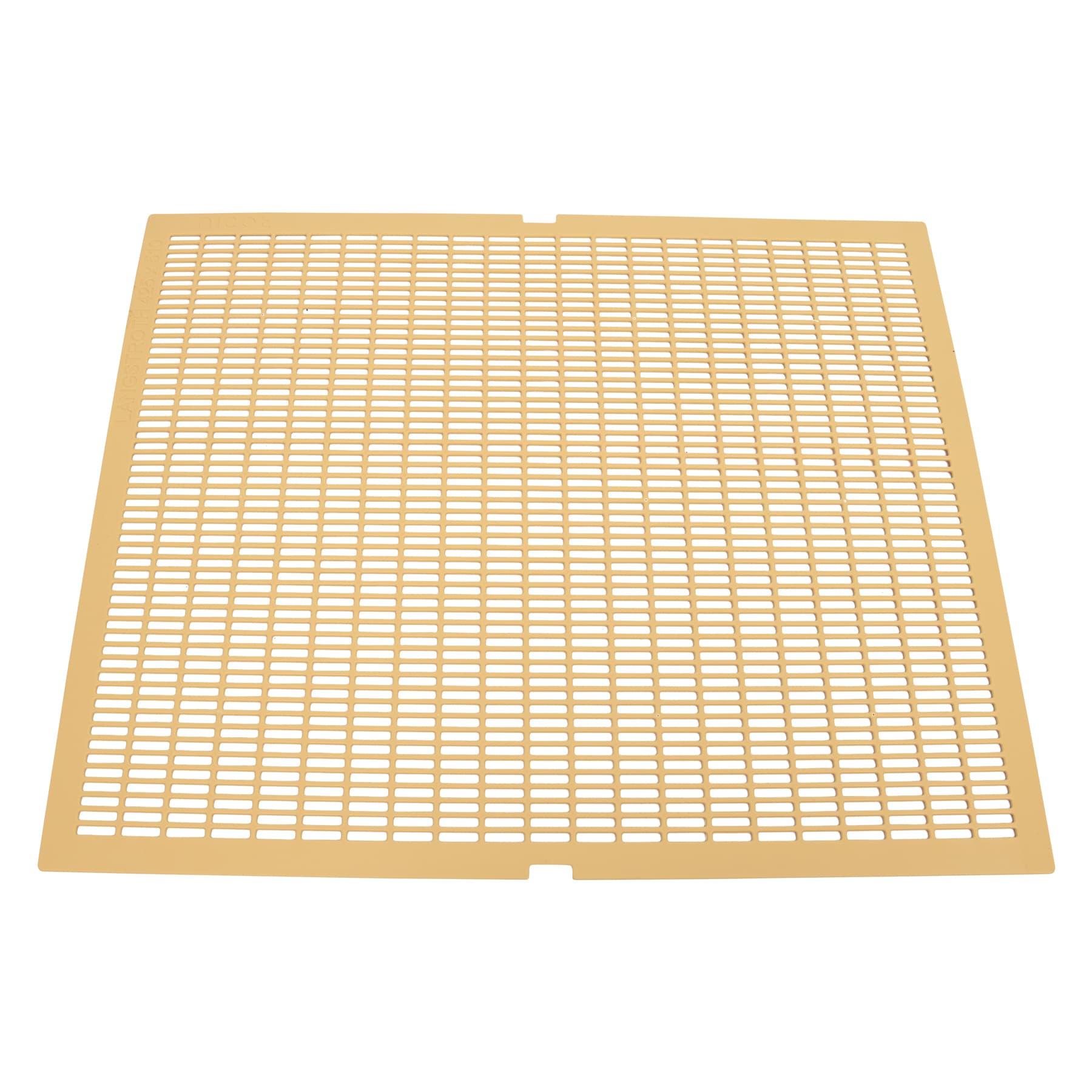 Absperrgitter Kunststoff, 425 x 510,  Langstroth 10 Waben,  gelb,  Nicot