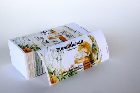 Honigetikett mit Schleckerbiene für 500 g Glas, nassklebend, 100 Stück OHNE Herkunftsbezeichnung