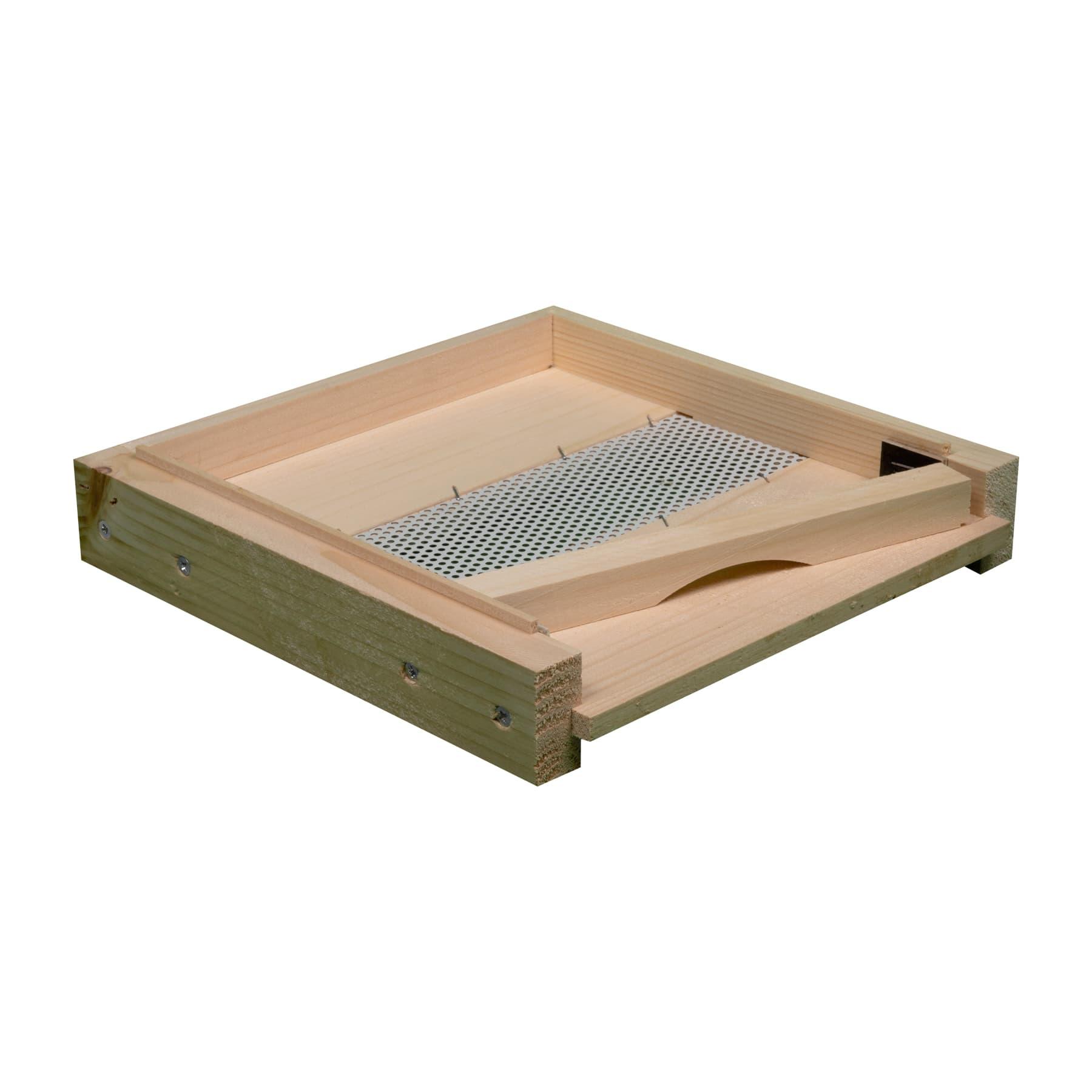 Mini Plus Boden aus Holz mit Gitter und Fluglochkeil