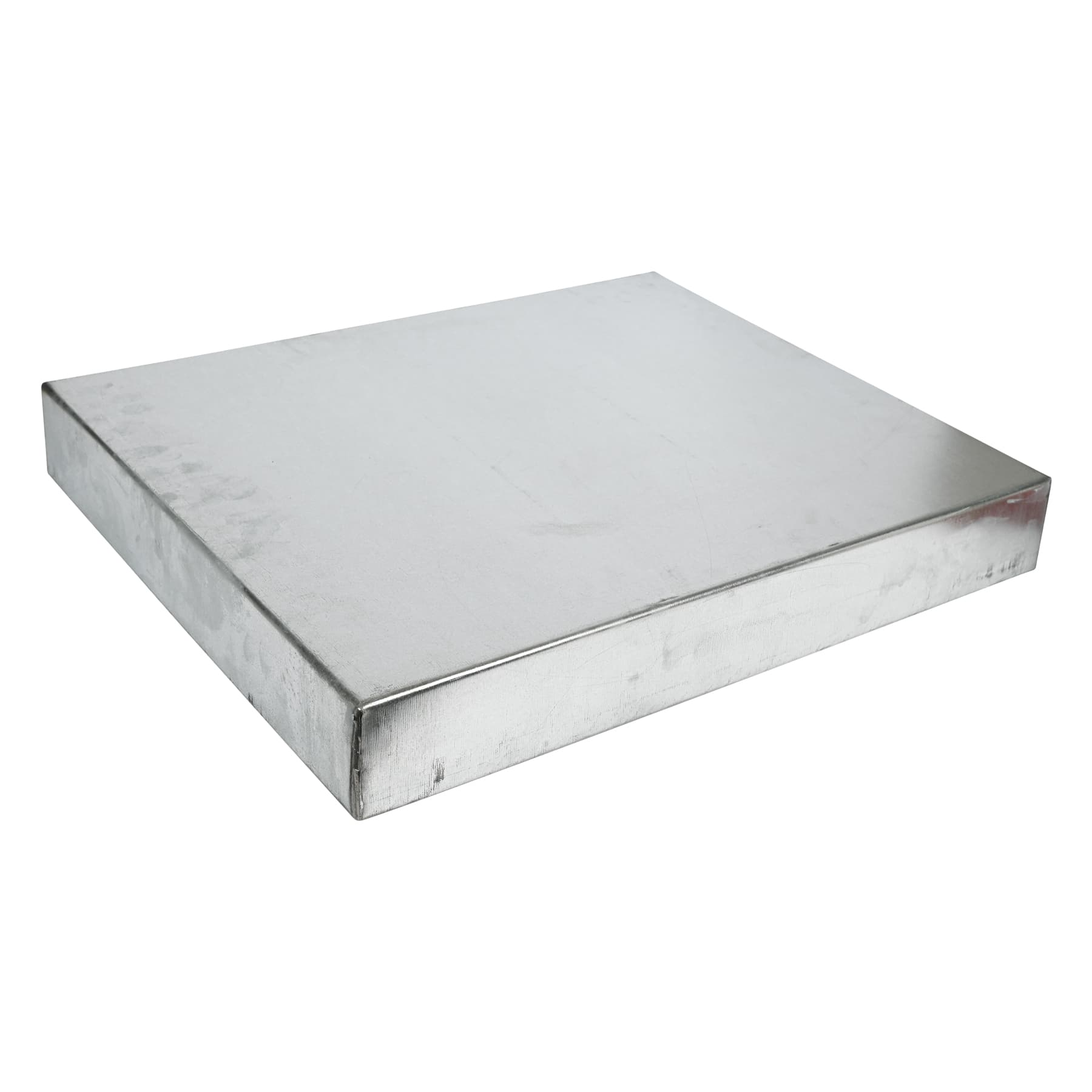 Blechdeckel, verzinkt, rechtwinklig abgekantet, Innenmaß 390 x 530 x 65 mm für 9 Waben Einfachbeute (Gellerbeute),