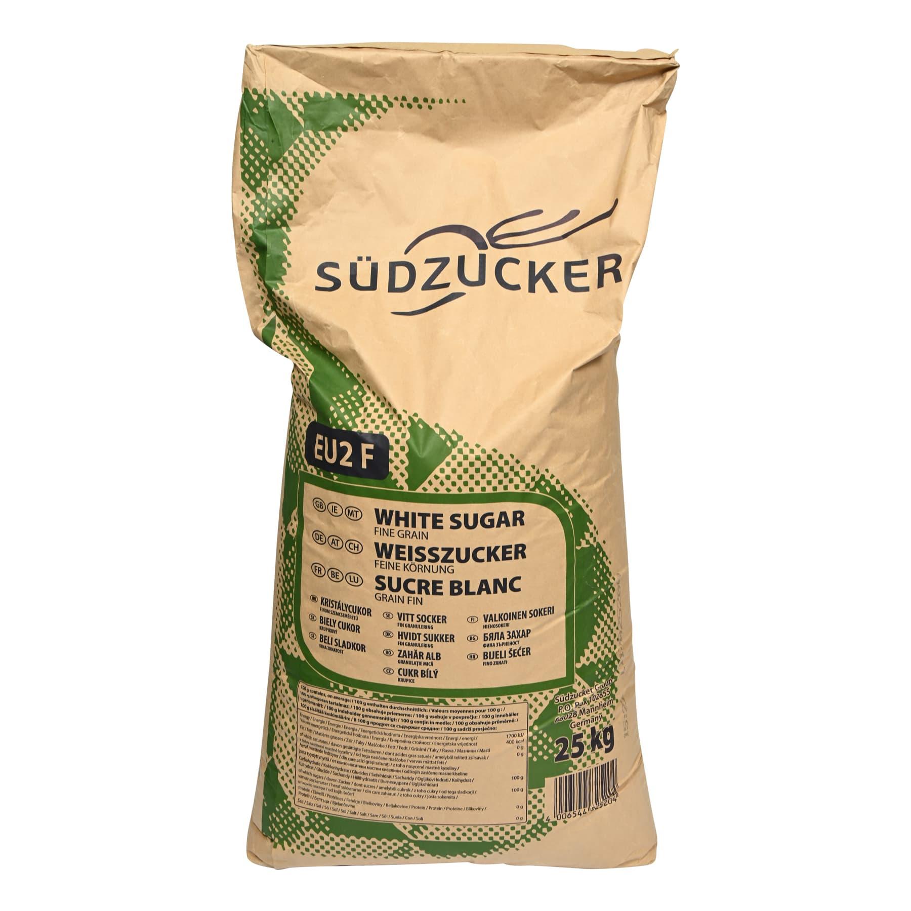 25 kg Kristallzucker (Lebensmittel auch für den menschlichen Verzehr)  im  Sack, Preis je Sack