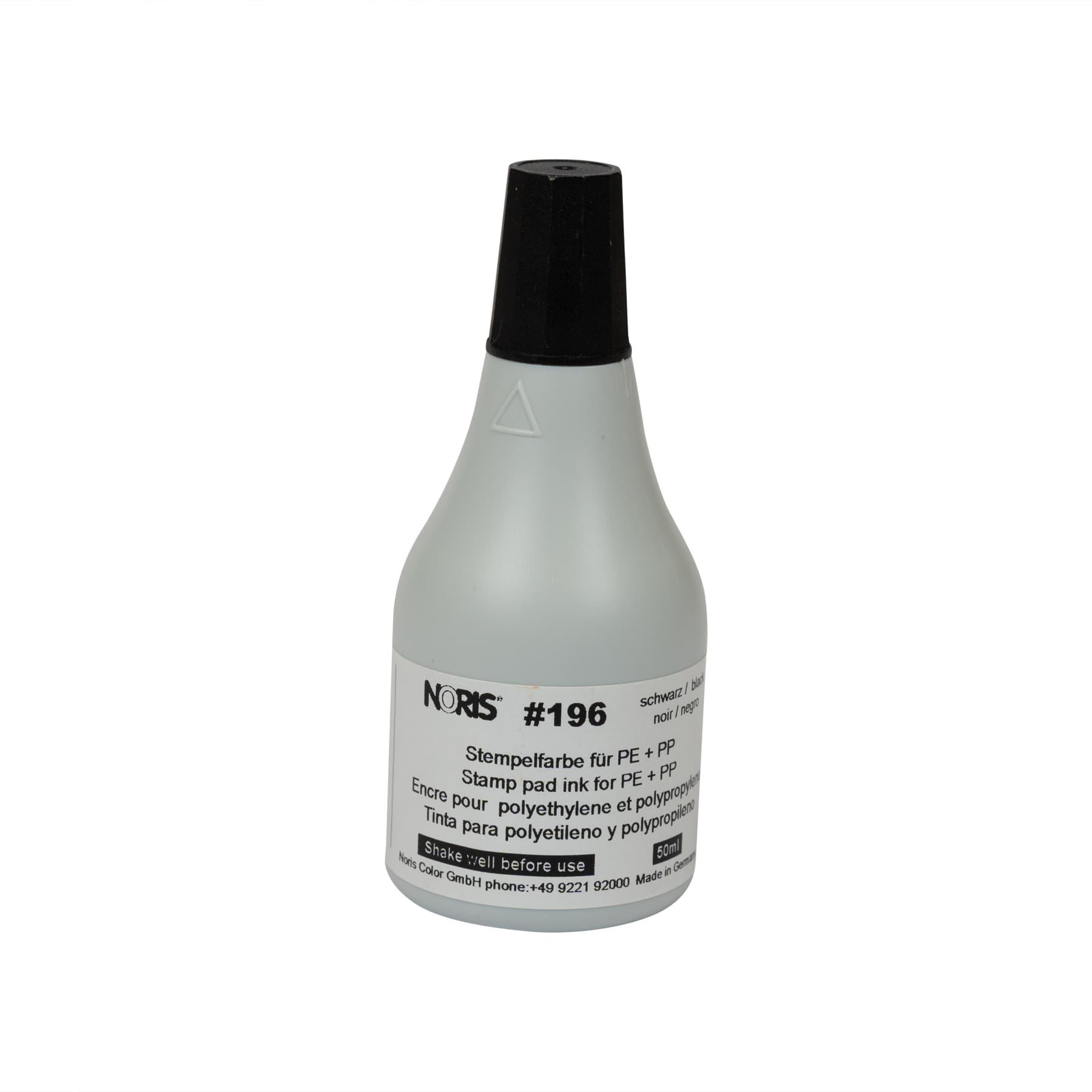 Stempelfarbe 196 schwarz  50 ml sehr schnell trocknend (20 Sekun