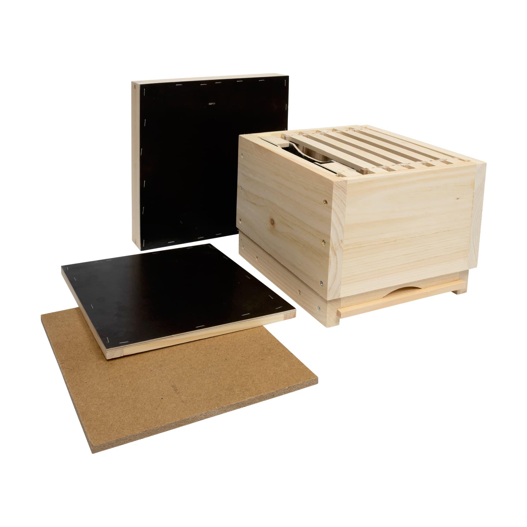 Miniplusbeute aus Holz komplett inkl. Futtertasche u. Rähmchen