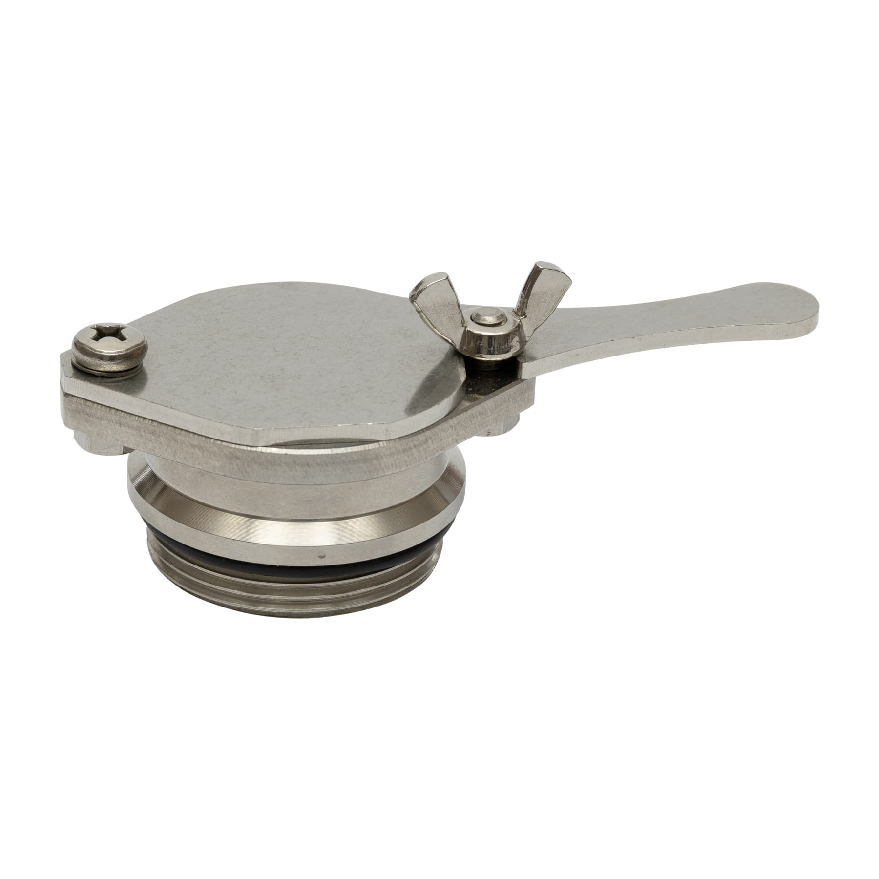 """Quetschhahn Edelsathl, Durchmesser 40 mm, 1,5 """" ohne Kontermutter, original lega Artikelnummer: 6370"""