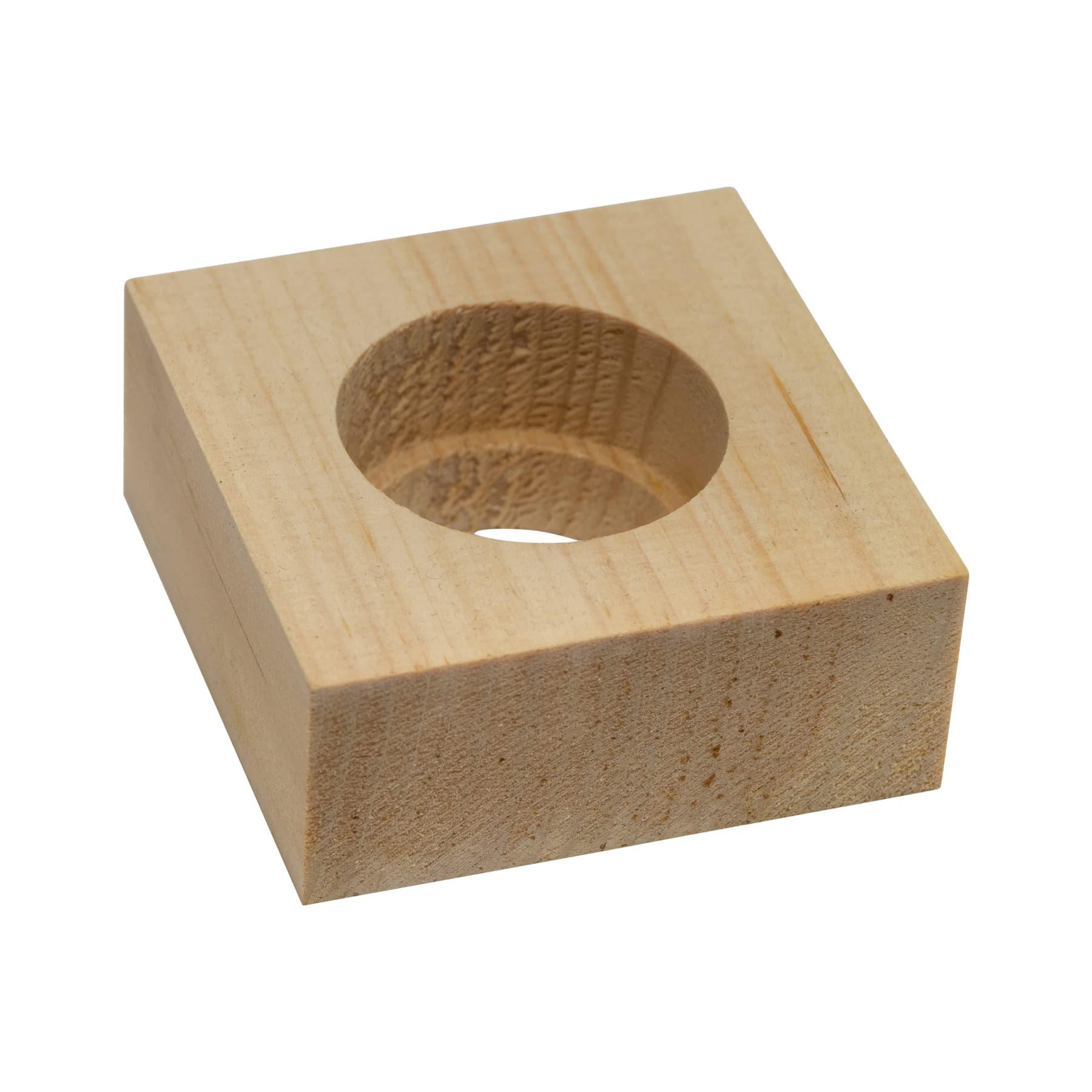 Vierkantholz für die 200 ml Braunglasflasche