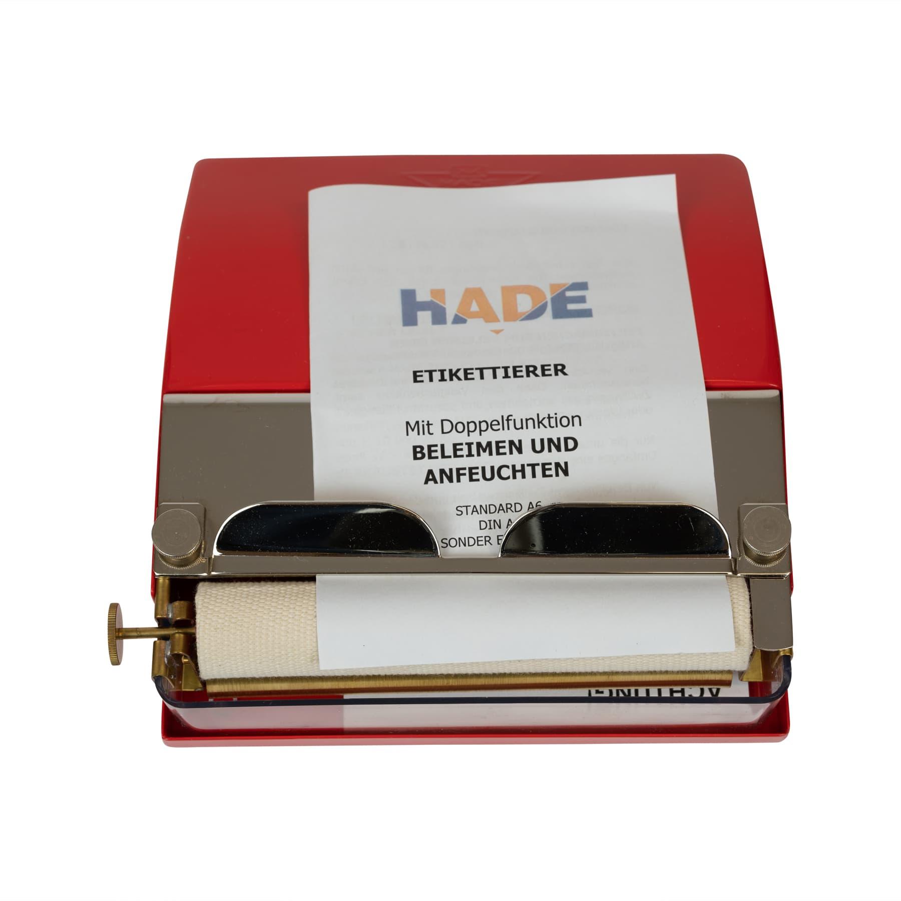 Beleimungsgerät / Etikettenbefeuchter / Etikettierer, elektrisch, Nutzbreite 180 mm