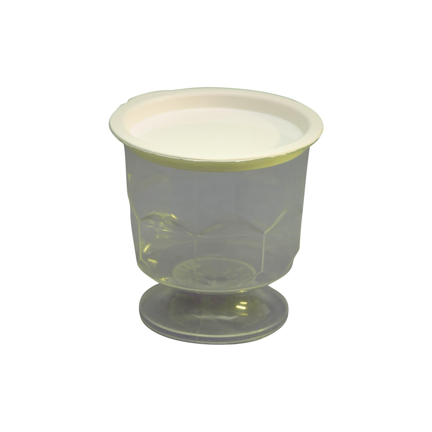 Probierbecher klar, mit Fuß und Deckel original Nicot  f. ca. 30 g Honig
