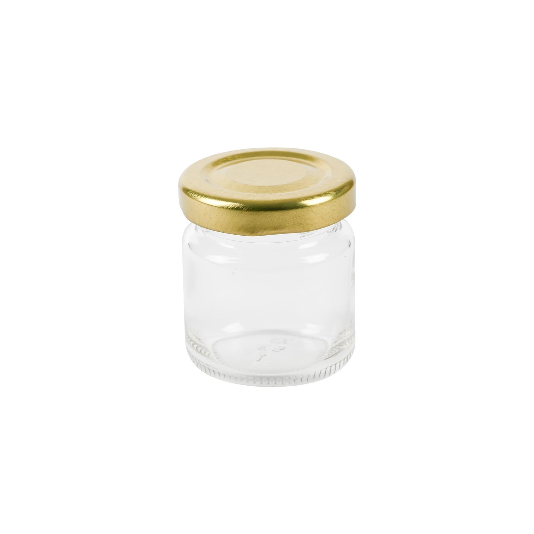 Rundglas 50 ml mit TO Metalldeckel 43 mm