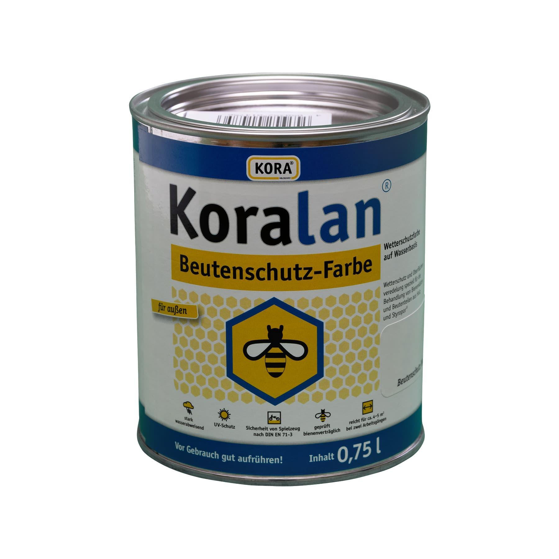 Koralan Beutenschutzfarbe gelb 750 ml