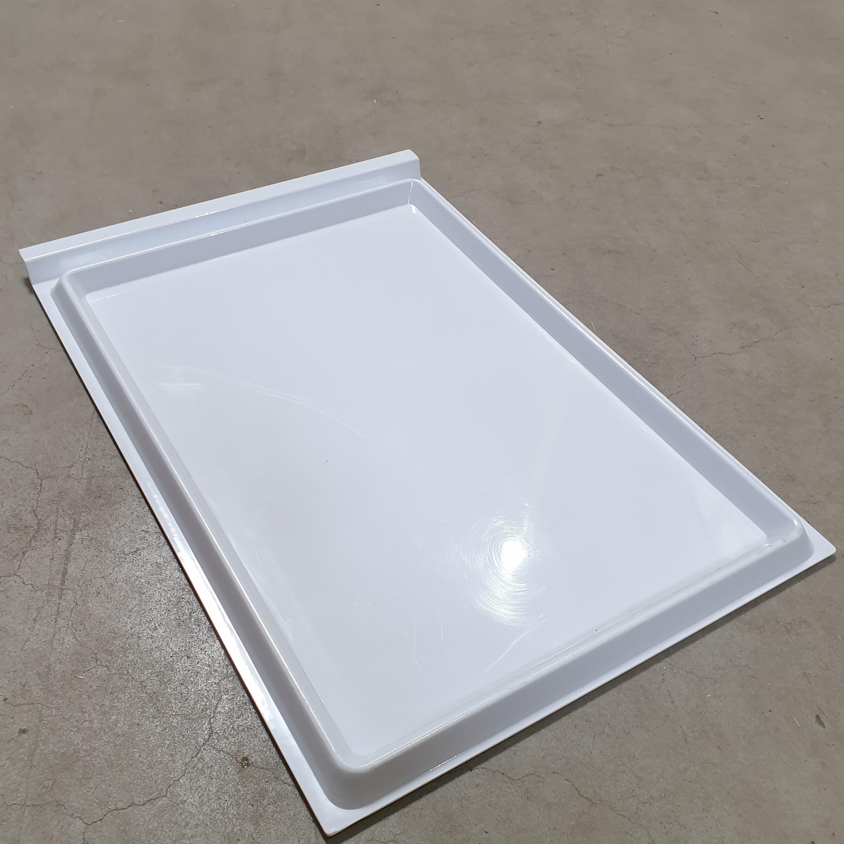 Varroauntersuchungswanne Kunststoff weiß, als Schieblade f. Gellerbeute 9 Waben Zander, Maße: 470 x 325 x 15 mm