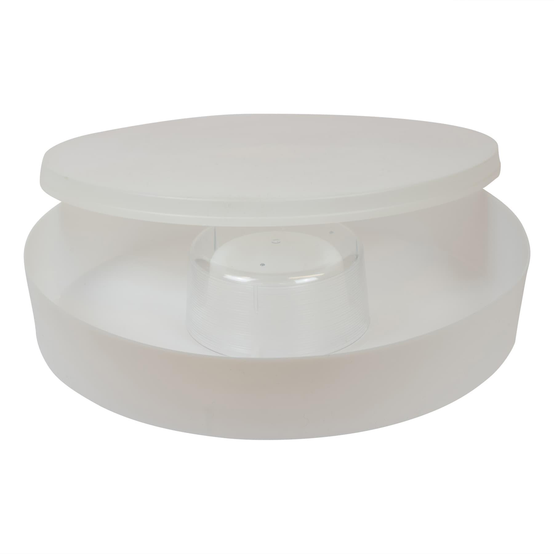 Futtertrog 2 Liter rund aus Hartplastik, 55 mm hoch