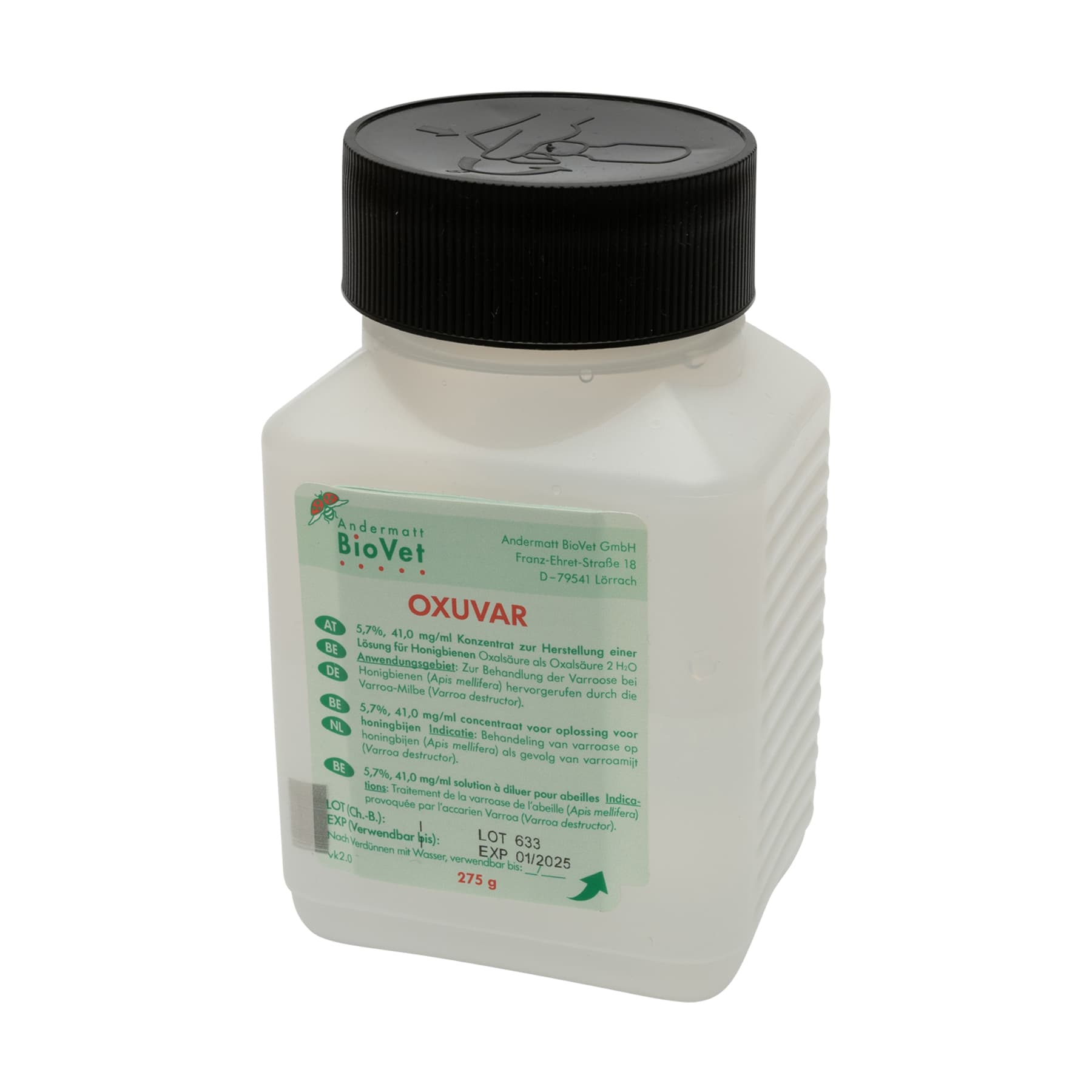 OXUVAR® 5,7%,  275  g 1 Produkt 2 Anwendungen (Wirkstoff Oxalsäure)