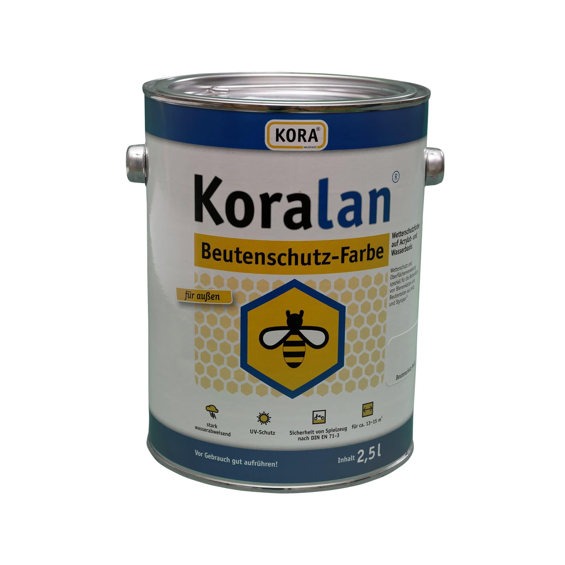 Koralan Beutenschutzfarbe braun 2,5 l