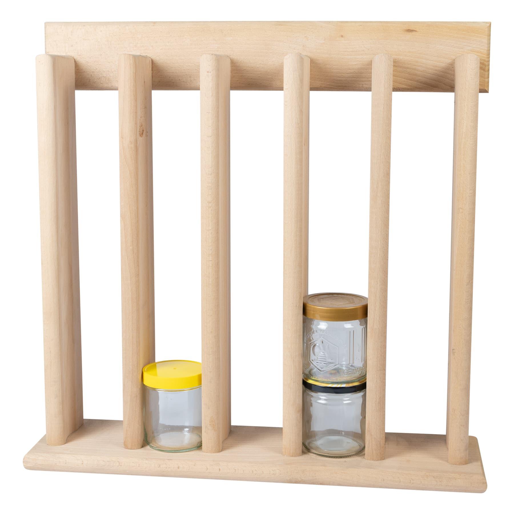 Verkaufsständer für Honig aus Holz ohne Füße