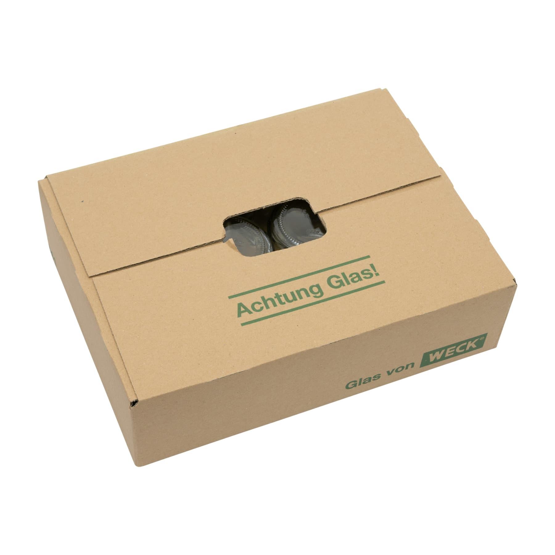 Rundglas 250 g mit Schraubdeckel 68 mm Kunststoff, im Karton nur Selbstabholung, Weck Nr. Artikel 641