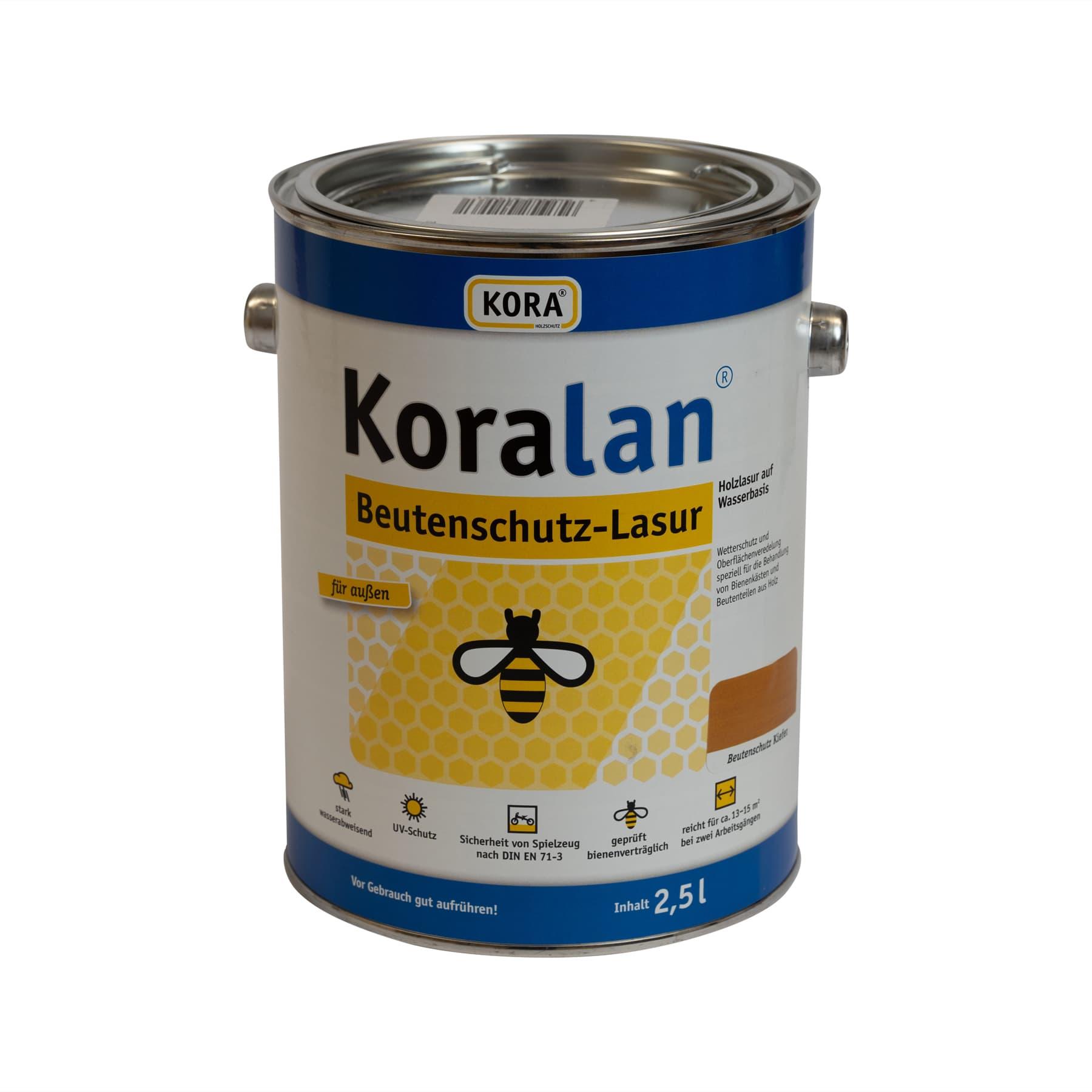 Koralan Beutenschutzlasur Kiefer 2,5 l Eimer