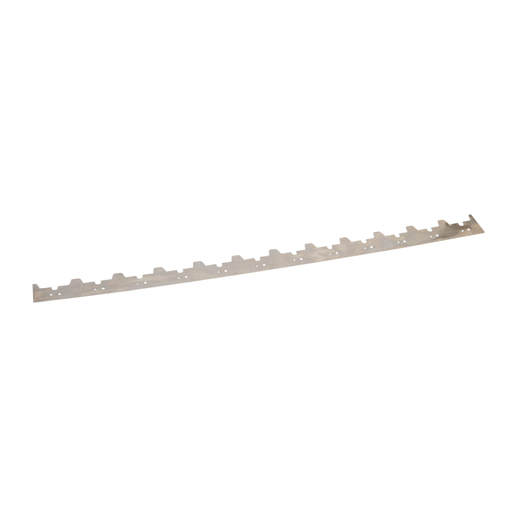 Abstandsrechen Edelstahl für 25 mm Rähmchen 12 Waben auf 448 mm Länge