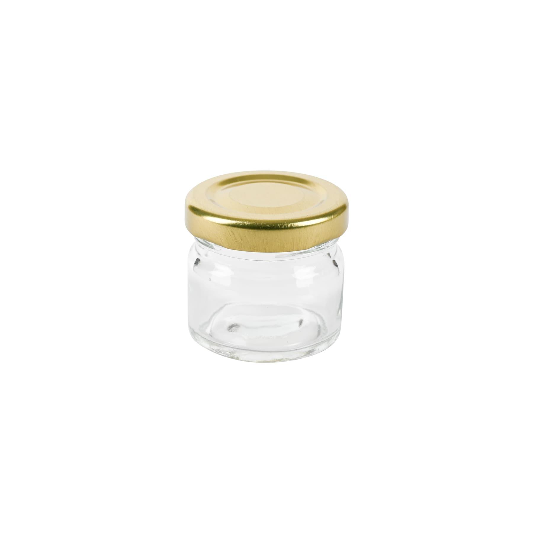 Rundglas (Glaskruke) 30 ml mit TO Metalldeckel 43 mm