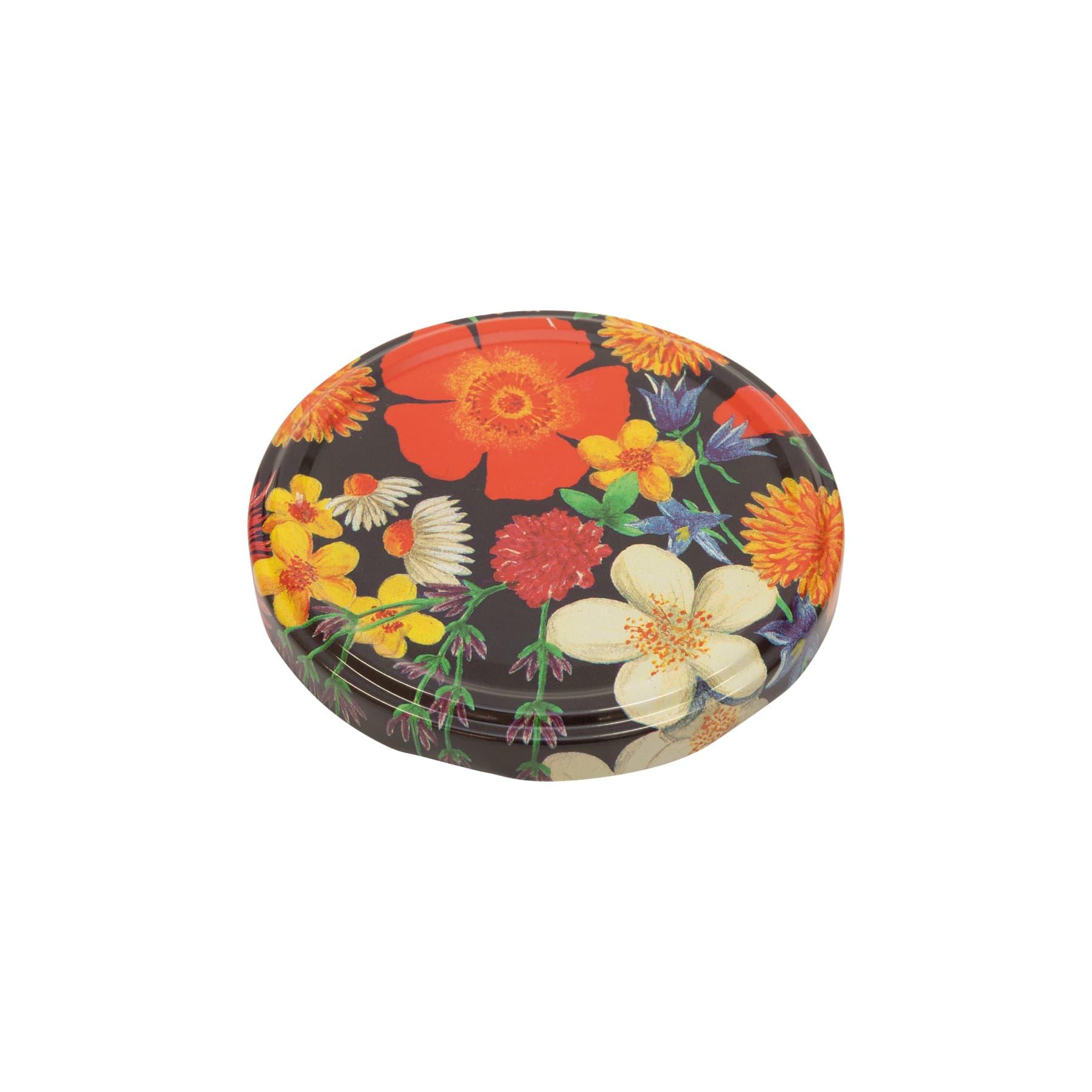Twist Off Deckel Metall 82 mm, Blüten